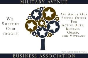 Military Discount Door Sticker