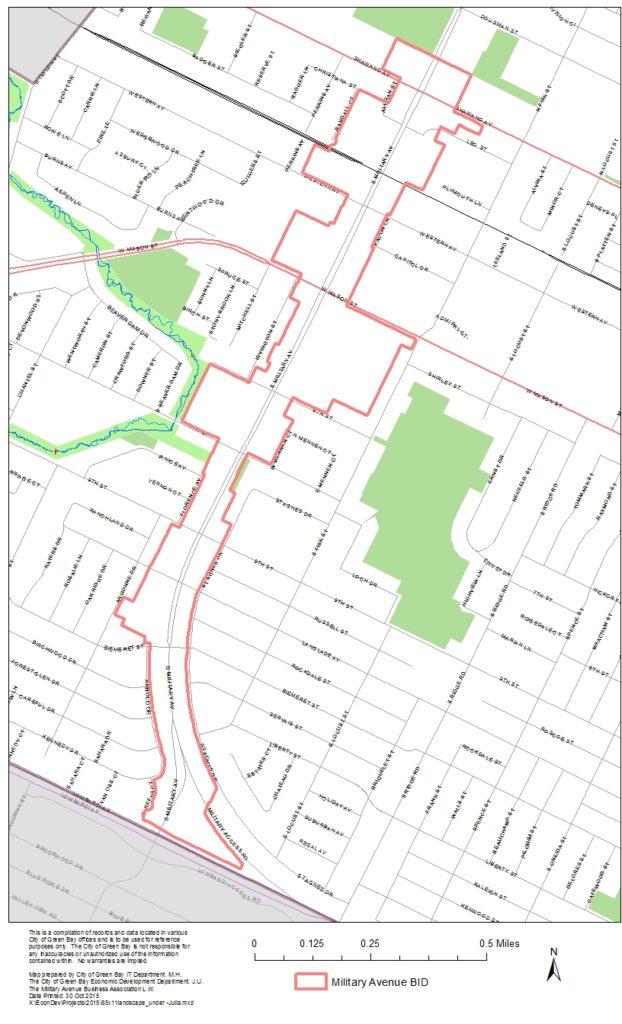 Military Dist Boundaries Streetnames