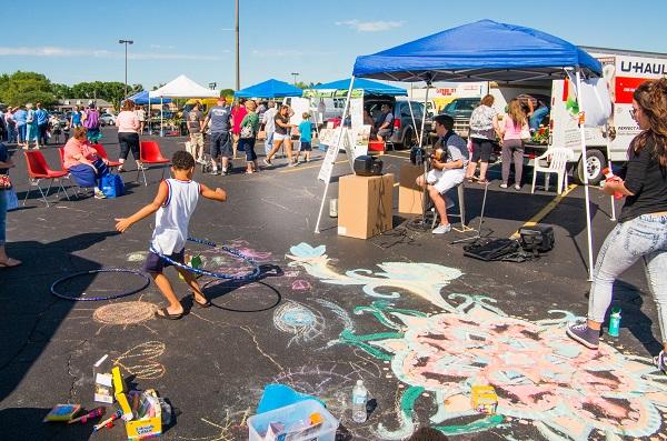 chalk, tent, hoop