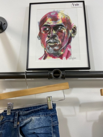 Local artist work displayed for sale