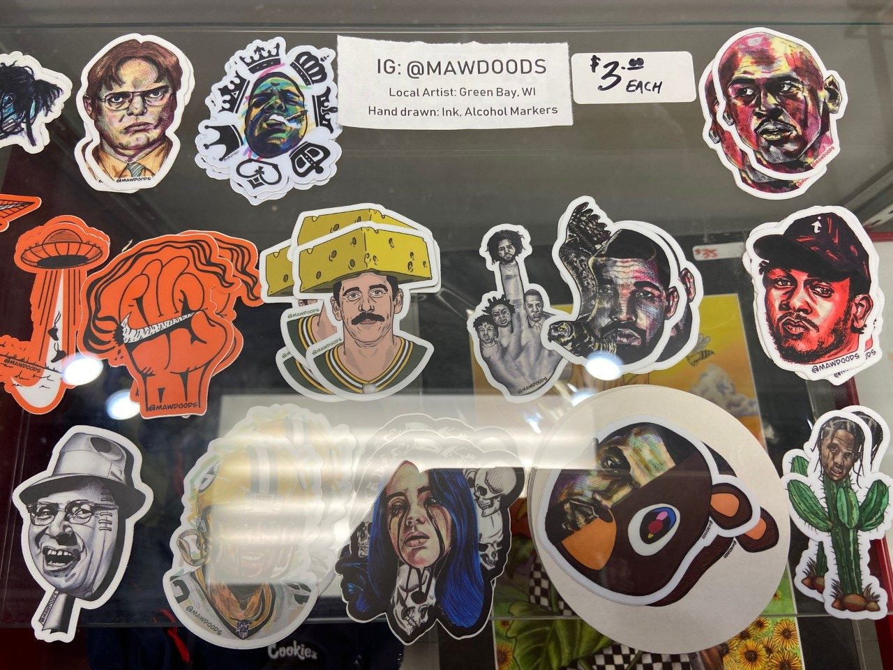 Awesome stickers from local artisits