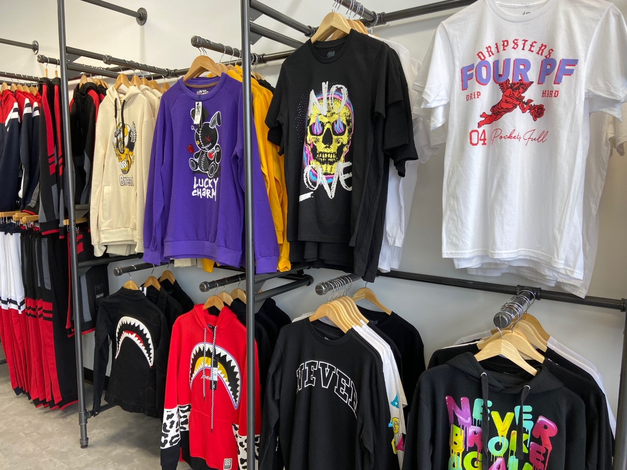 T's and hoodies in lots of styles